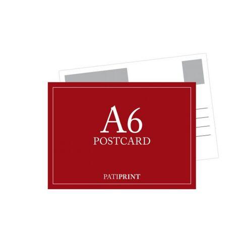 Pati-Versand Postkarte A6 Q-Format 340g matt 25 Stück