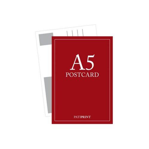 Pati-Versand Postkarte A5 H-Format 340g matt 5 Stück