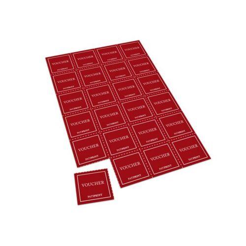 Pati-Versand Coupon-Bögen (perforiert) A4 24 Coupons 160g matt 100 Stück