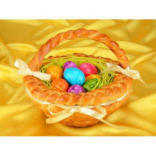 Pati-Versand Osterkorb Set mit Hefeteig