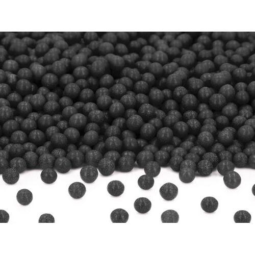 Pati-Versand Weiche Zuckerperlen schwarz 100g