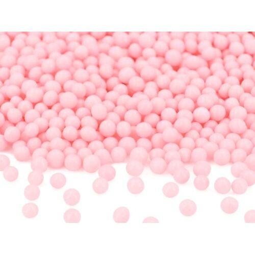 Pati-Versand Weiche Zuckerperlen rosa glimmer 100g