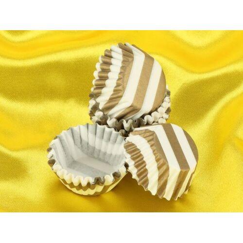 Pati-Versand Pralinenkapseln 25mm weiß-gold 100 Stück