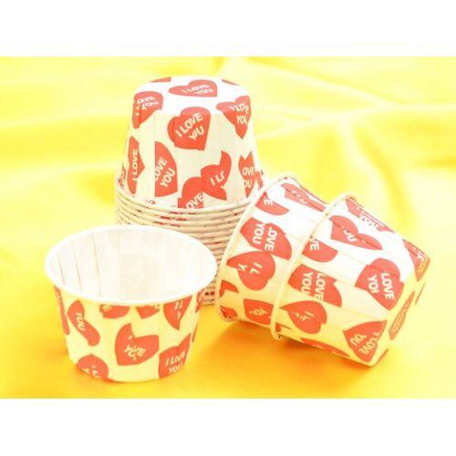 Pati-Versand Cupcake Becher I Love You 20 Stück