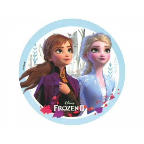 Pati-Versand Tortenaufleger Frozen II Anna und Elsa rund 20cm