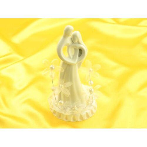 Pati-Versand Brautpaar mit Blumen, Porzellan