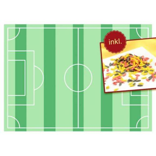 Pati-Versand Tortenaufleger Fußballfeld A4 und Streudekor Fußballschuhe 80g