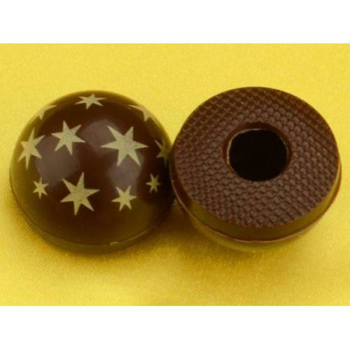 Pati-Versand 1 Folie Halbkugeln mit Sternen Zartbitter