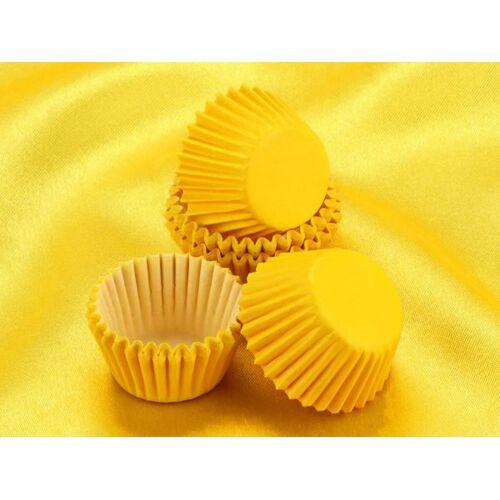 Cake-Masters Pralinenkapseln 25mm gelb 100 Stück