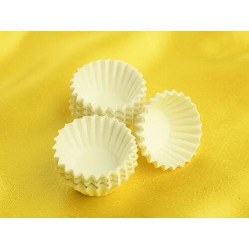 Cake-Masters Pralinenkapseln MINI 22mm weiß 100 Stück
