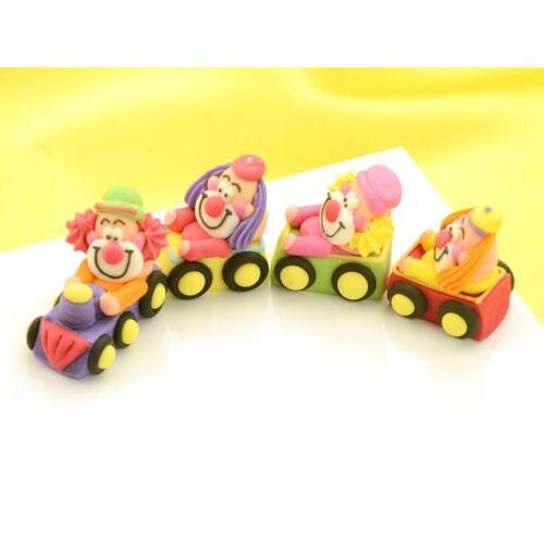 Cake-Masters Clowns im Zug Zucker 4er Set