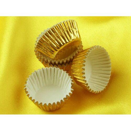 Pati-Versand Pralinenkapseln 25mm gold 60 Stück