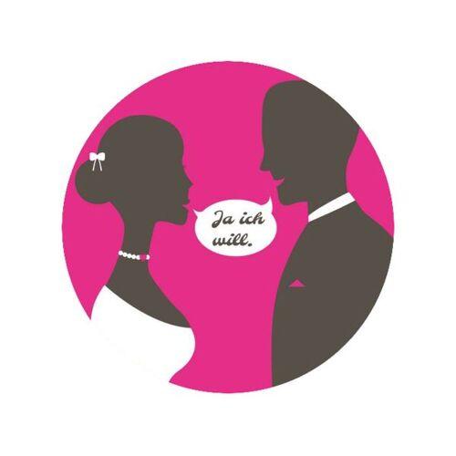 Pati-Versand Tortenaufleger Ich-will pink rund 20cm