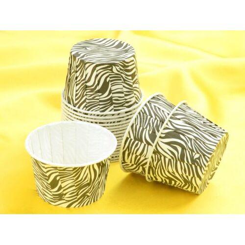 Pati-Versand Cupcake Becher Zebra 20 Stück
