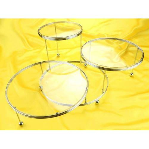 Wilton Etagere 3er mit kristallklaren Platten