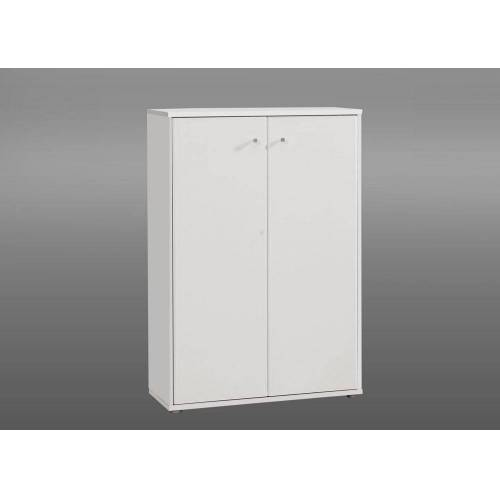 Lifestyle4Living Kommode in Weiß mit 2 Türen, Maße: B/H/T ca. 72/111/34 cm