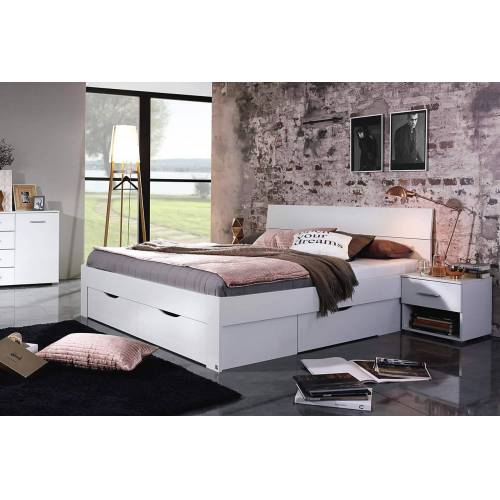 Lifestyle4Living Bett in alpinweiß, Liegefläche 160 x 200 cm