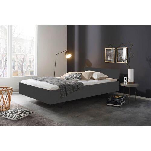 Lifestyle4Living Bett in grau-metallic, Liegefläche 120 x 200 cm