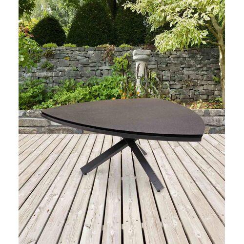 Lifestyle4Living Gartentisch mit einem Gestell aus Aluminium in anthrazit und einer Spraystone Tischplatte, Maße: B/H/T ca. 170/74/170 cm