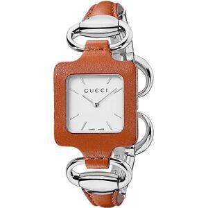 Gucci Uhr für Damen, Chronometer, Zeitmesser Günstig im Sale, Braun, Leder, 2017