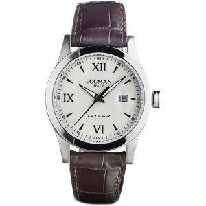 Locman Uhr für Herren, Chronometer, Zeitmesser, Braun, Leder, 2017
