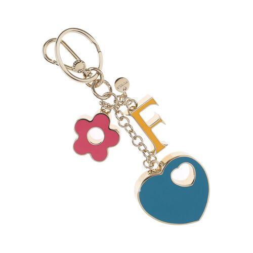 Furla Schlüsselanhänger für Damen, Schlüsselring, Schlüsselkette Günstig im Sale, Gelb, Metall, 2017