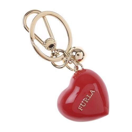 Furla Schlüsselanhänger für Damen, Schlüsselring, Schlüsselkette Günstig im Outlet Sale, Rot, Metall, 2017