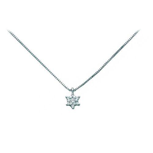 Miluna Halskette für Damen, Weissgold, !8 Kt Weissgold, 2017