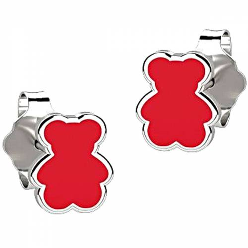 Nanan Ohrring für Damen, Rot, Silber 925, 2017