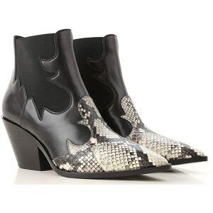 Casadei Stiefel für Damen, Stiefeletten, Bootie, Boots Günstig im Outlet Sale, Schwarz, Leder, 2017, 36 38