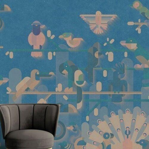 "A.S. Creation Kathrin und Mark Patel Fototapete Walls by Patel ""flamingo1""  ..."