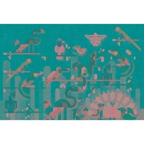 "A.S. Creation Kathrin und Mark Patel Fototapete Walls by Patel ""flamingo2""..."