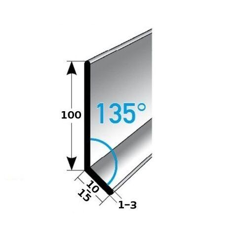 AUER Fußleiste / Sockelleiste (TYP 100) aus Edelstahl, Höhe: 100 mm,...