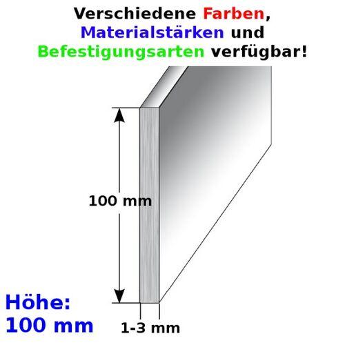 """AUER Aluminium - Sockelleiste / Fußleiste """"TYP i 100"""", Höhe: 100 mm,..."""