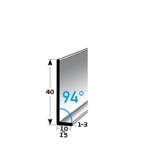 AUER Fußleiste / Sockelleiste (TYP 40) aus Edelstahl, Höhe: 40 mm,...