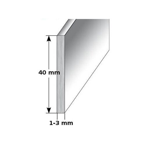 """AUER Aluminium - Sockelleiste / Fußleiste """"TYP i 40"""", Höhe: 40 mm,..."""