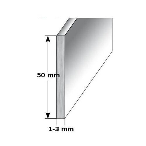 """AUER Aluminium - Sockelleiste / Fußleiste """"TYP i 50"""", Höhe: 50 mm,..."""