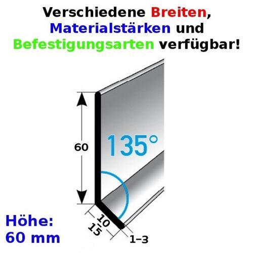AUER Fußleiste / Sockelleiste (TYP 60) aus Edelstahl, Höhe: 60 mm,...