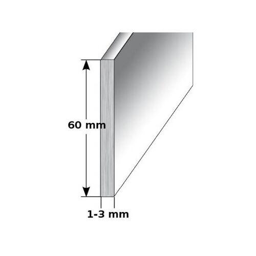 """AUER Aluminium - Sockelleiste / Fußleiste """"TYP i 60"""", Höhe: 60 mm,..."""