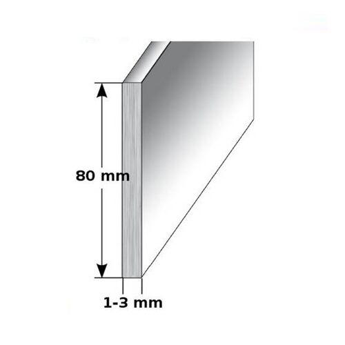 """AUER Aluminium - Sockelleiste / Fußleiste """"TYP i 80"""", Höhe: 80 mm,..."""