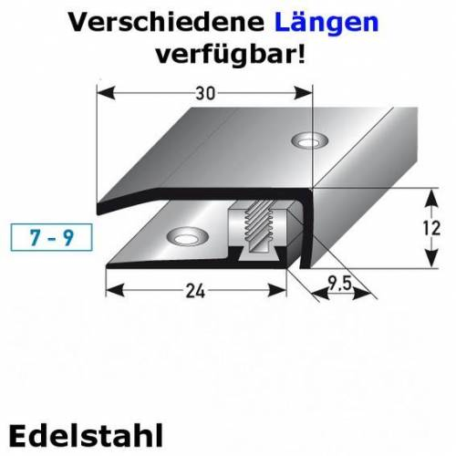 """AUER Abschlussprofil / Abschlussleiste Laminat """"Davidson"""", Höhe 7 x9..."""