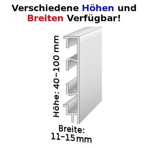 AUER Sockelleiste mit Kabelkanälen, Höhe: 40 - 100 mm, Breite: 11 -...