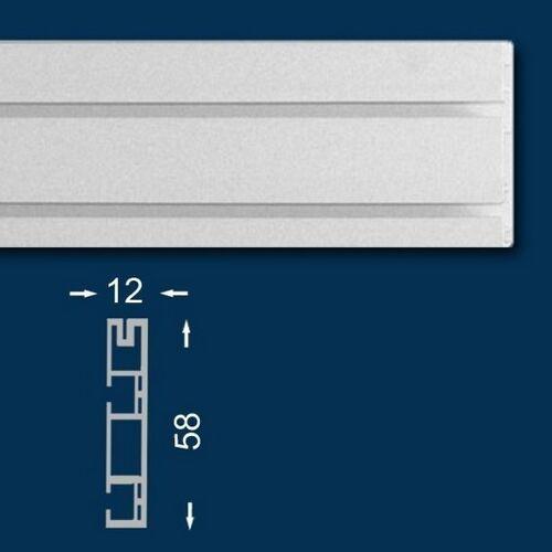 Wiesemann Vorhangschiene / Gardinenschiene 200 cm, Zweiläufig, Kunststoff