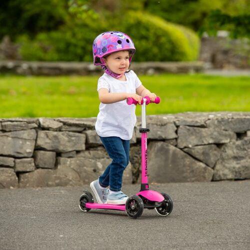 I-Sporter - Mini LED-Scooter Kinderroller, pink