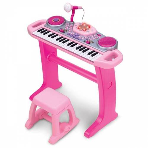 Big Steps Keyboard mit Stuhl, pink