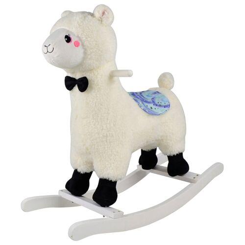 Schaukelpferd Lama, weiß