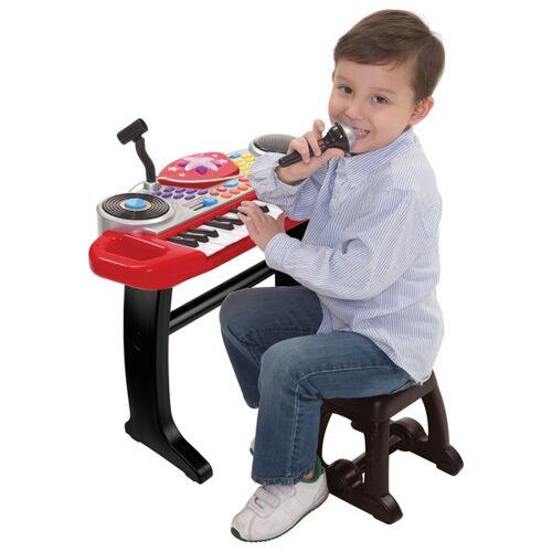 Big Steps Keyboard mit Stuhl, rot-schwarz