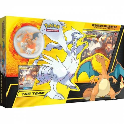 Pokémon - Reshiram und Glurak-GX Tag Team Tin Box