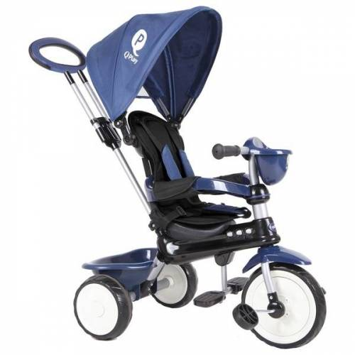 QPLay Dreirad Comfort 4 in 1 Dark Blue