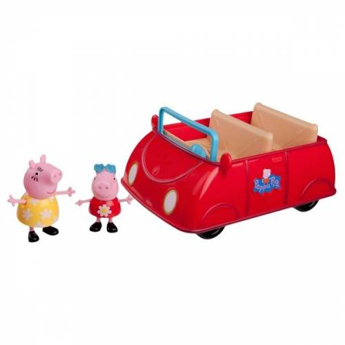 Peppa Pig - Peppas rotes Auto mit Peppa und Mummy Pig
